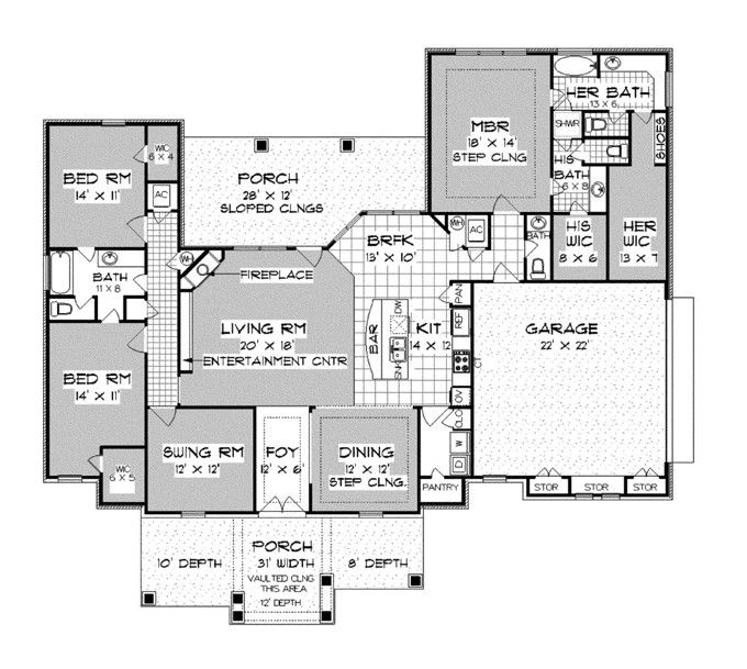 32 Best Images About House Plans Under 2500 Sq Ft On Pinterest