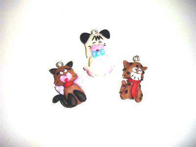 REVIVAL anni 80 HELLO SPANK - fimo - 1 ciondolo a scelta - idea regalo - charms per orecchini braccialetti