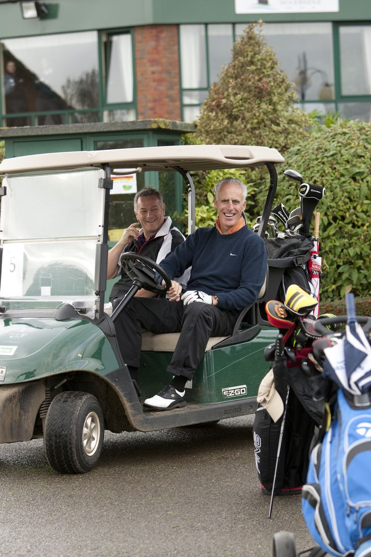 Mick McCarthy #ipswich town football manager driving a #golf buggy.