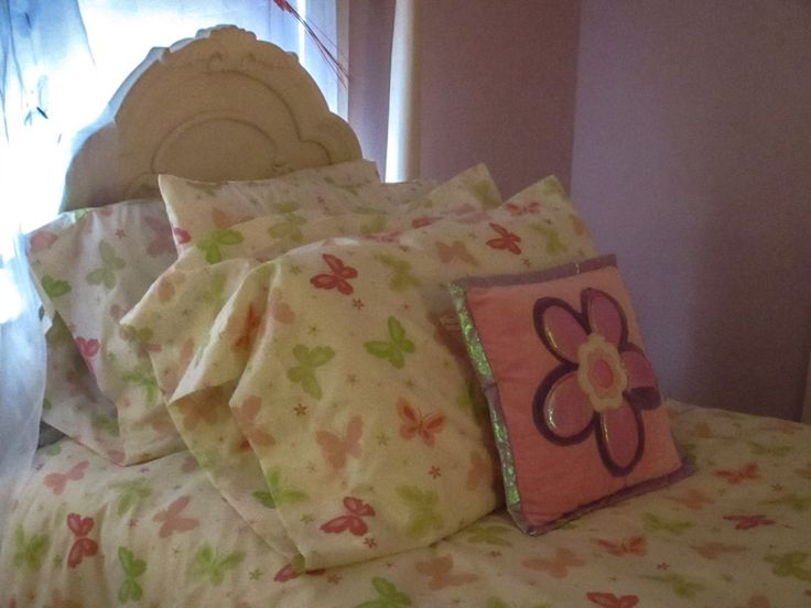 Full, Double size Duvet set, Handmade Butterfly Duvet cover set with 4 Pillowcases and Fitted Sheet by BluberryHillBoutique on Etsy