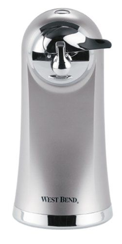 Electric Can Opener.  Slim, extra tall design to open extra tall cans.  Includes bottle opener and knife #sharpener.  The #detachable chrome cutting accessory is ...