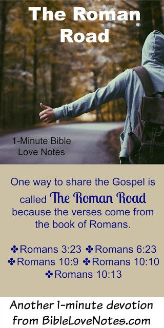 This 1-minute devotion describes an easy way to remember and share the Gospel accurately by using the Book of Romans.
