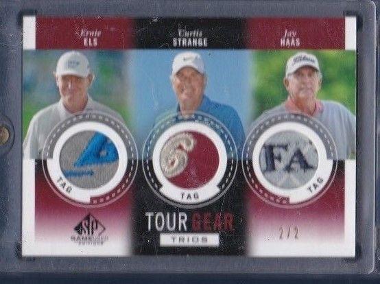 Ernie Els, Jay Hass, Curtis Strange used PGA Golf memorabilia #2/2