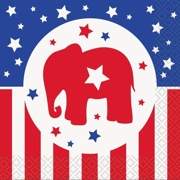 If you think right is the right way for the USA, lay out these Republican beverage napkins at your election party!