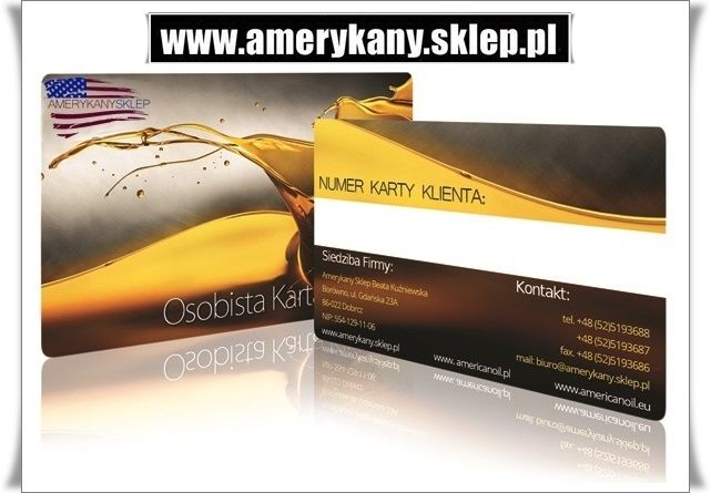 Personal Customer Card AmerykanySklep