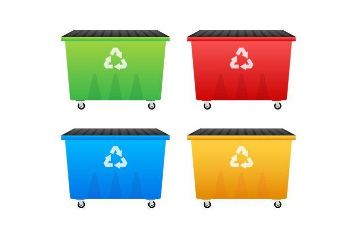 Recycling Garbage Dumpster Wheelie Trash Bin 962355 Illustrations Design Bundles Garbage Dumpster Trash Bins Recycling