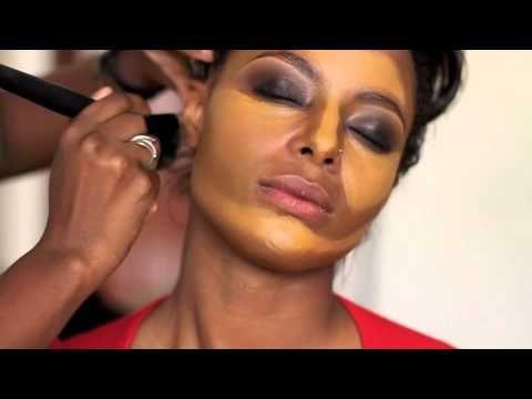 Contouring, Highlighting and Foundation- Caramel Skin - YouTube