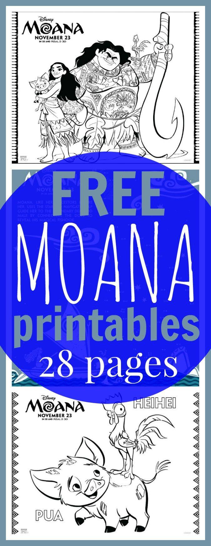 FREE Printable Moana Coloring Sheets + Kids Activities #Moana - Raising Whasians