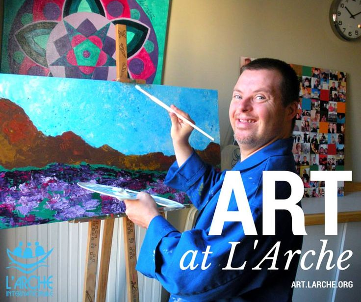 Art at L'Arche >> check out art.larche.org  #art #painting #disability