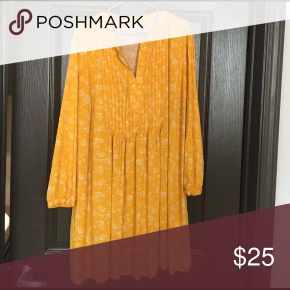 Mustard yellow dress Midi floral dress Old Navy Dresses Midi