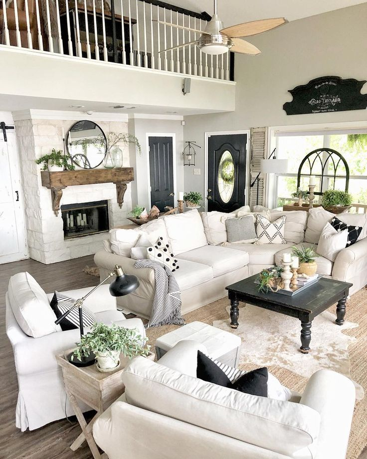 40 Joanna Gaines Inspired Homes That Have That Modern Farmhouse Feel Farmhouse Decor Living Room Farm House Living Room Farmhouse Style Living Room