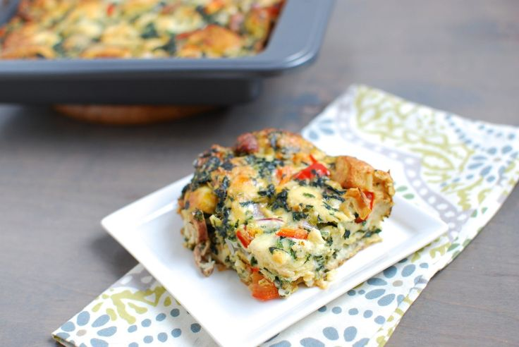 Dense with flavor and eggy goodness, this yummy sausage and vegetable egg bake is a delicious way to fit a complete meal into one pan.