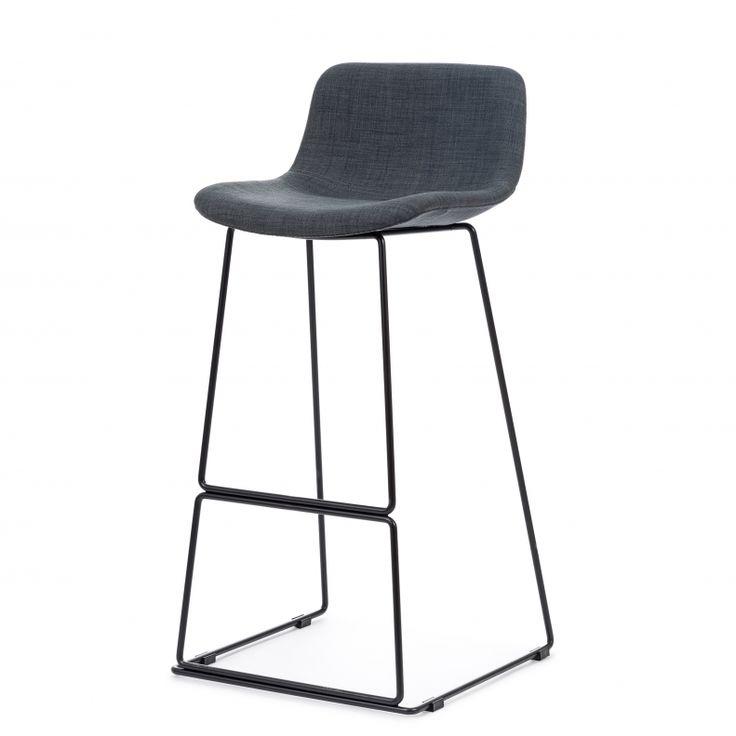 Барный стул Neo с мягкой обивкой купить в интернет-магазине дизайнерской мебели Cosmorelax.Ru