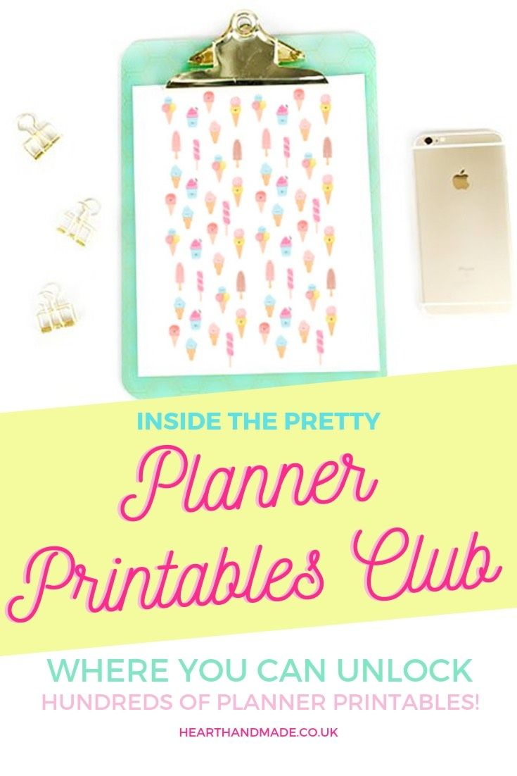 Introducing: The Pretty Planner Printables Club on Patreon