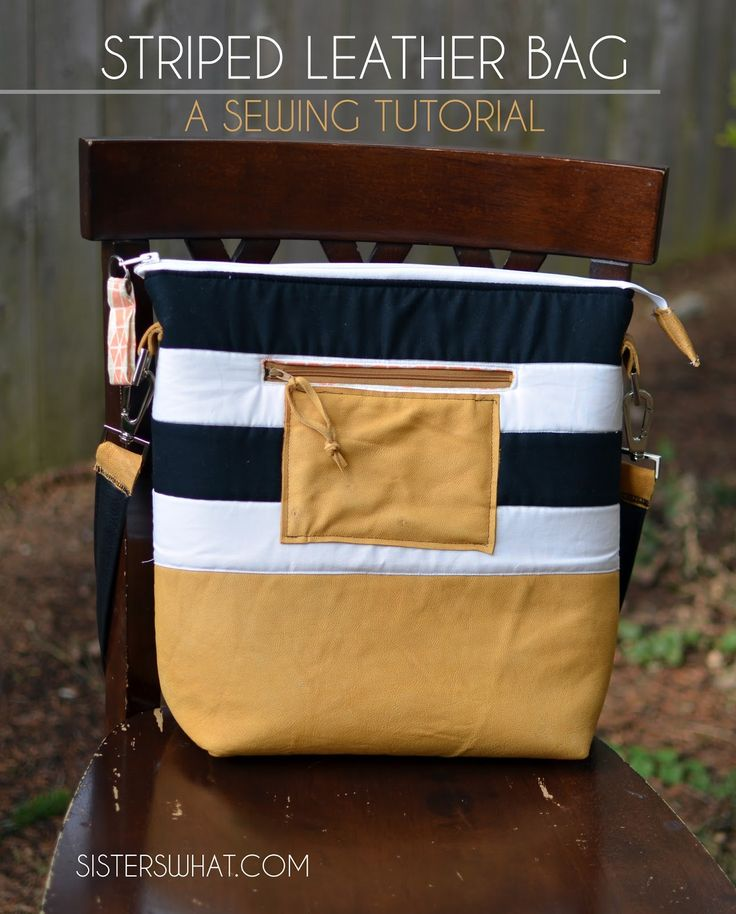 Striped Leather Bag [Tutorial] | Sisters, What!