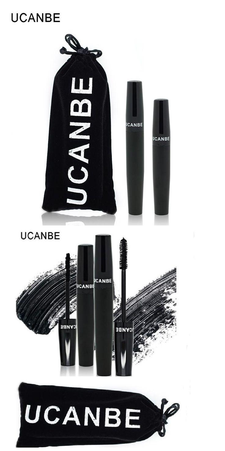 [Visit to Buy] UCANBE Brand 2pcs 3D Fiber Lashes Eye Mascara Waterproof Volume Express Black Eyelashes Grower Double Marscara Makeup Set  Feact #Advertisement