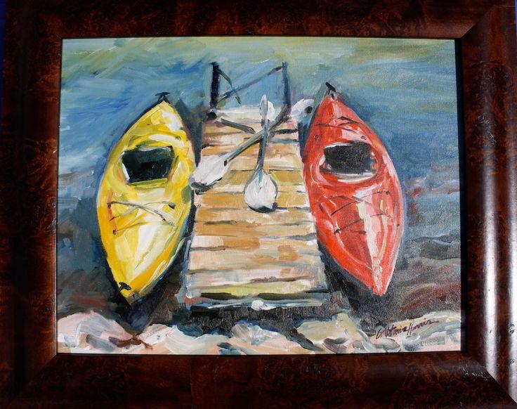 Kayak Watercolor Paintings Kayak Painting Kayaks At Rest