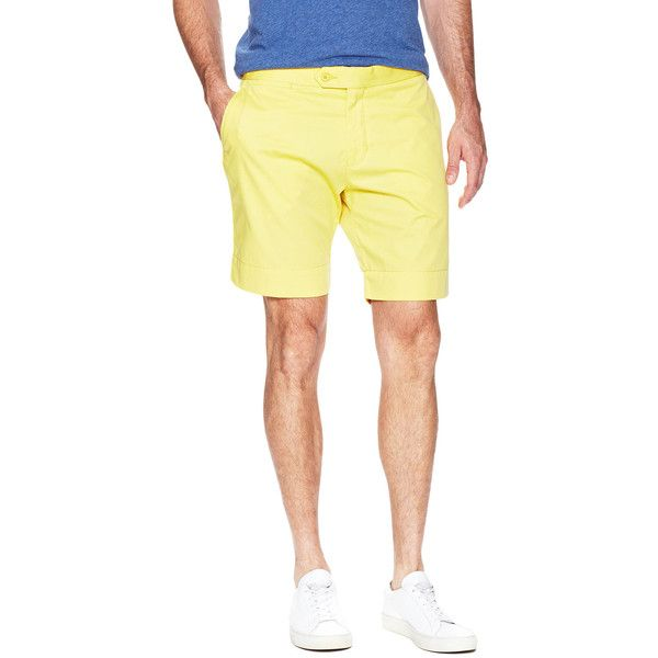 Orlebar Brown Orlebar Brown Men's Norwich Short - Canary - Size 36 (6.750 RUB) ❤ liked on Polyvore featuring men's fashion, men's clothing, men's shorts, canary, slim fit mens clothing, mens beach wedding apparel, mens clothing, mens cotton shorts and mens flat front shorts