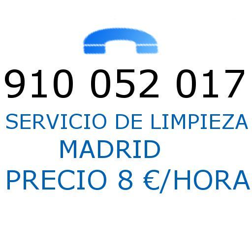 Empresa de Limpieza Madrid. Empreas de limpieza por horas. Precio 8 euros/hora