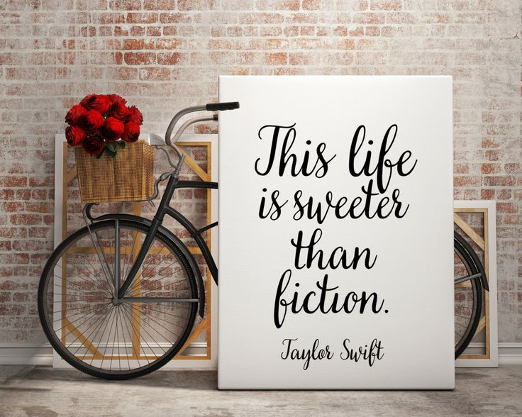 "Taylor Swift ""Sweeter than fiction"" Typography quote Life quote Quote about life Taylor Swift Poster Motivational quote Inspirational poster by BlueBookDesign on Etsy https://www.etsy.com/listing/250006515/taylor-swift-sweeter-than-fiction"