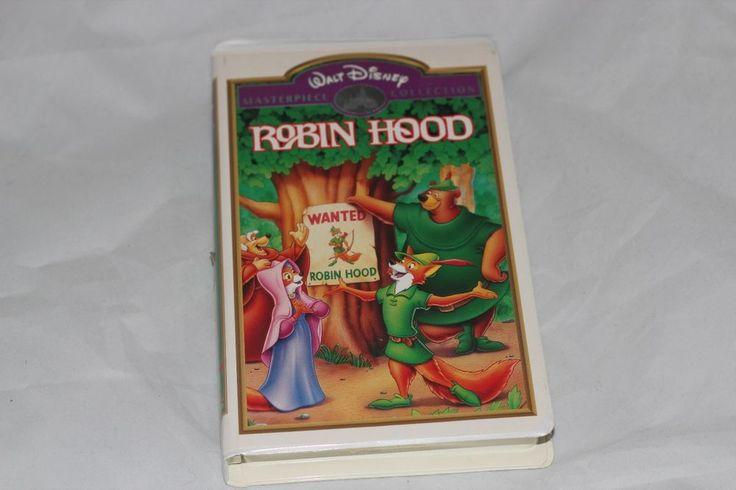 Disney Robin Hood VHS Tape Masterpiece Collectors Edition Movie