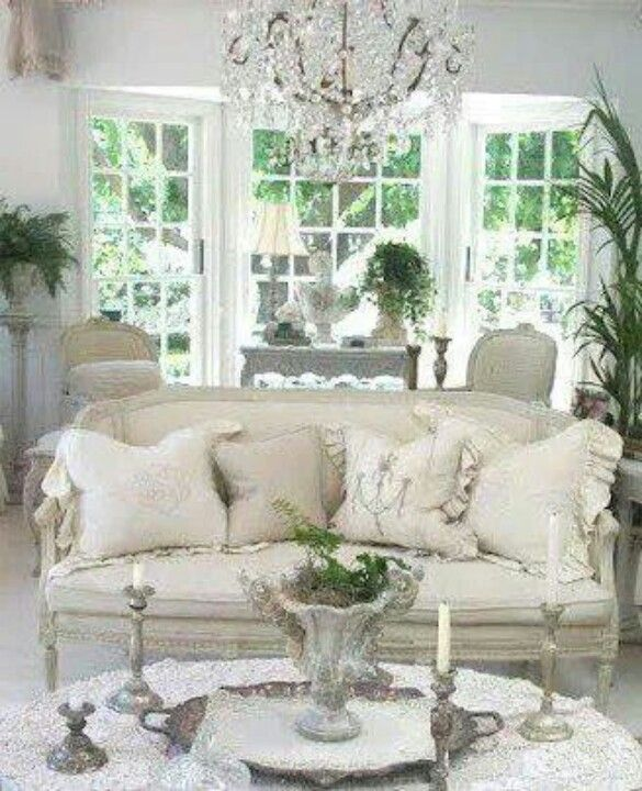 I love white my style country french pinterest - French shabby chic living room ideas ...