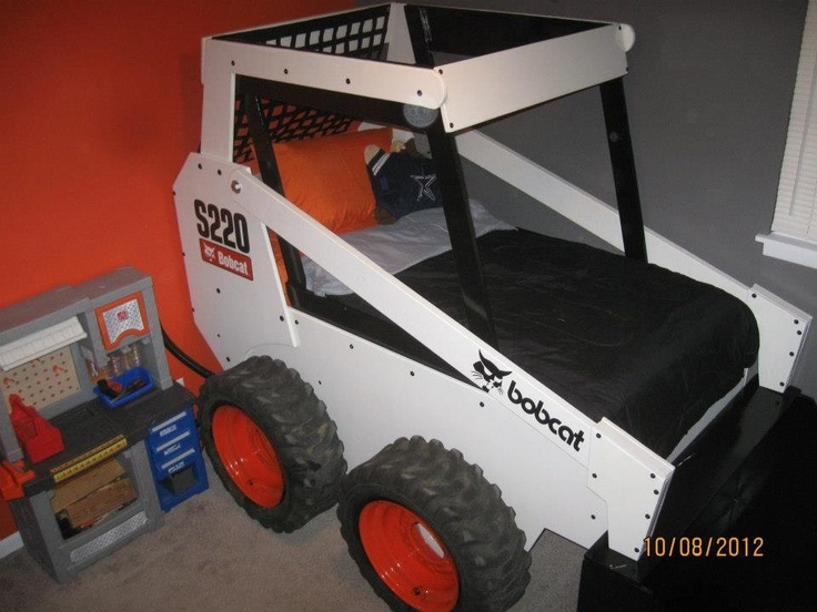 Children S Twin Skid Loader Bed 2 500 00 Via Etsy