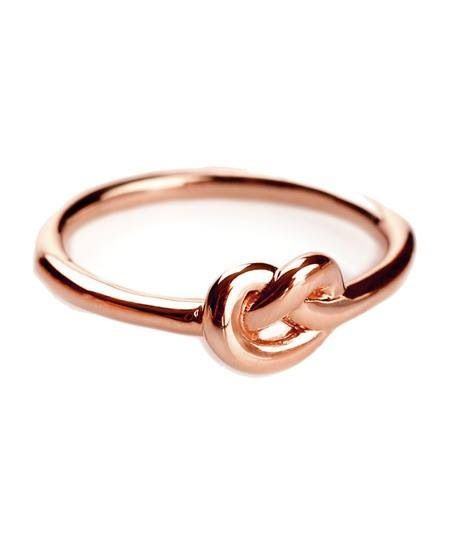 Knot rose gold ring