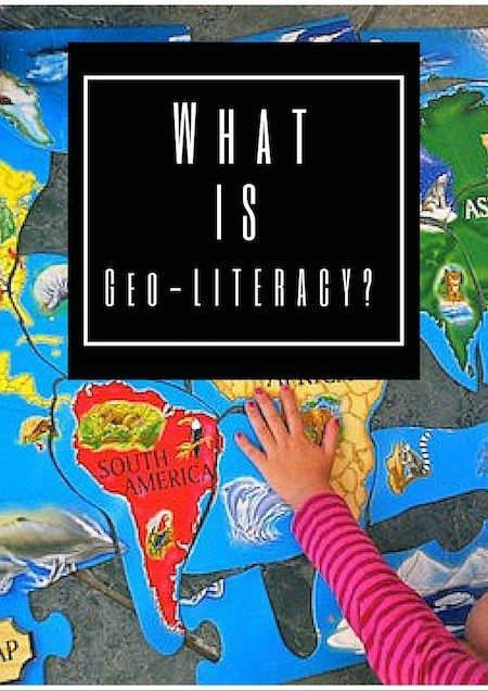 What Is Geo-literacy for Kids? Geo-literacy is so much more than maps: understanding human and natural systems,  geographic reasoning,  systematic decision-making. These geography lessons are meant to start YOUNG kids on the road to be geo-literate.