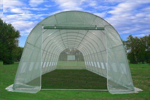 Greenhouse 33'L X 13'W X 7.5'H - Large Heavy Duty Green House Walk in Hothouse 185 Pounds By DELTA Canopies   shopswell