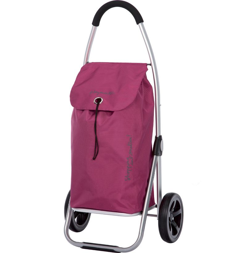 Easily transport groceries or laundry with this stylish Go Two Collapsible Shopping Cart that comes in different colors.