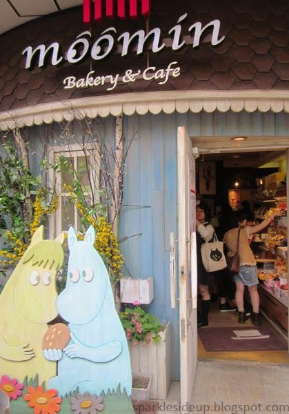 Moomin Cafe at LaQua complex at Tokyo Dome City <3