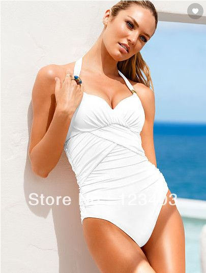 Ruching Halter One-Piece 2014 New VS Bikini For Women, Sexy brand brazilian one piece Swimwear Swimsuit, bathing suit $14.59