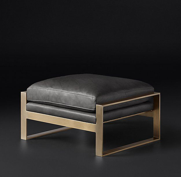 Rh Modern Alfieri Leather Ottoman Shared By Fireman S