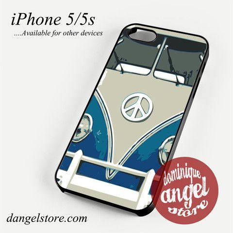 blue retro bus Phone case for iPhone 4/4s/5/5c/5s/6/6 plus