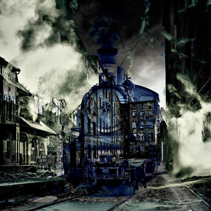 Ghost Train by Bin Jin (With images) Ghost, Train, Backwoods