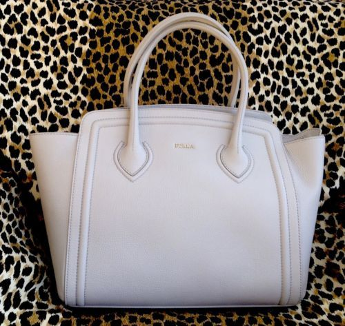 New-FURLA-College-Tote-Handbag-OPAL-ITALY-Large-OFF-White-Purse-Shop-Bag