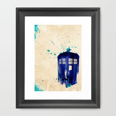 Doctor Who TARDIS Rustic Framed Art Print by Colin Capurso - $39.00