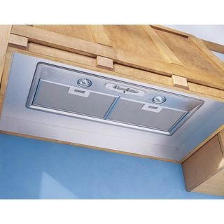 Broan Stainless 36-inch Custom Hood Liner - Overstock™ Shopping - Big Discounts on Broan Range Hoods  $153.  Needs blower and baffles.
