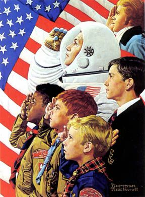 1973 - From Concord to Tranquility by Norman Rockwell