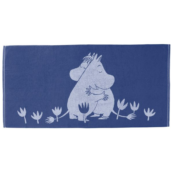 This blue towel with Snorkmaiden and Moomintroll is magical. It is sweet and beautiful, use for memorable bath moments. Moomin-towels are inspired by Tove Jansson's original drawings and are authentic ©Moomin Characters™ licensed products.