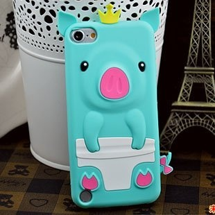 [Icase-mall] Cute Baby Blue Crown Pig Silicone Case Cover for Apple iPod Touch 5th Generation 5G 5 Xmas Gift, 1 HD Clear Screen protector by Trend-mall, http://www.amazon.com/dp/B00AHYECI0/ref=cm_sw_r_pi_dp_-ipkrb18BT0RC