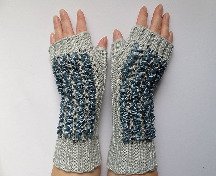women knitted gloves,handmade .gift idea.knitted mittens.elegant gloves by madewithlovenatali on Etsy