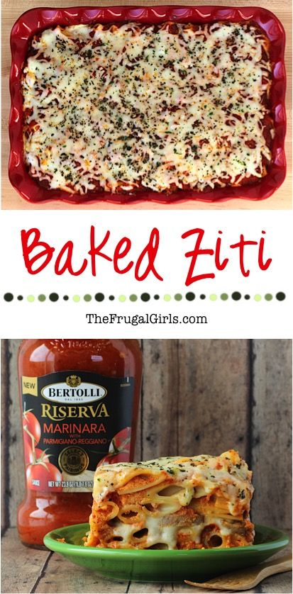 Easy Baked Ziti Recipe from TheFrugalGirls.com