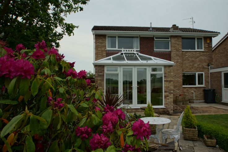 Large expanses of glass make this orangery the perfect addition to the house