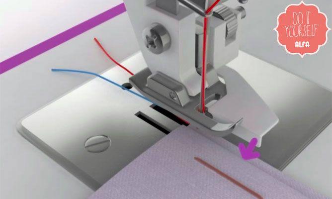 Coser dobladillo invisible con máquina de coser