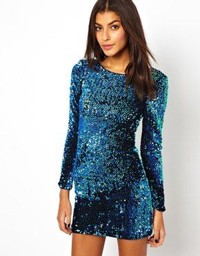 Motel Gabby Dress In Sequin - this one is a gorgeous colour...with your skin and hair...wowzer