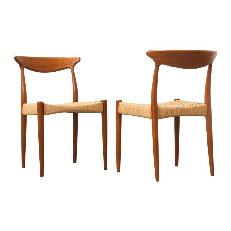Arne Hovmand-Olsen Teak and Rope Dining Chairs for Mogens Kold image 4