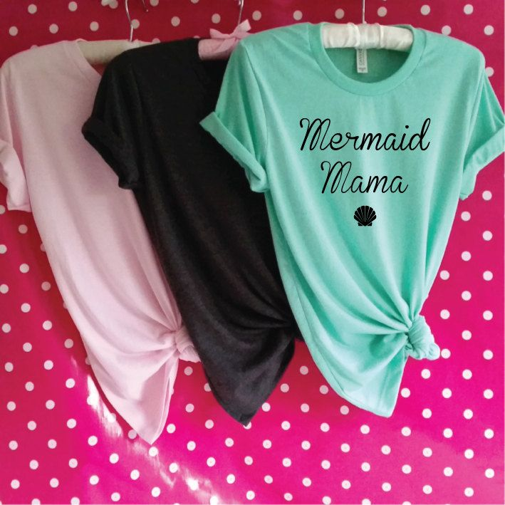 Mermaid Mama T-Shirt. Mermaid Shirt. Mermaid Mom. Mermaid Mommy. Mermaid Mum Shirt. Little Mermaid Mom. Mom Gift. Mother's Day Gift. by SoPinkUK on Etsy