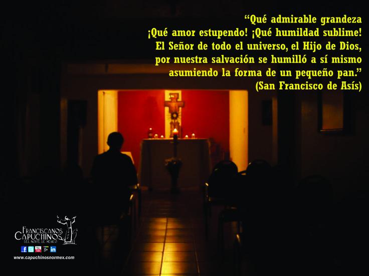 San Francisco de Asís y la Eucaristía.